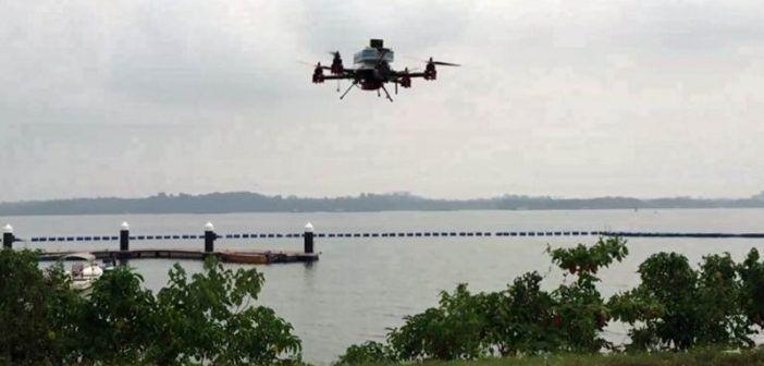 consegna posta via drone singapore