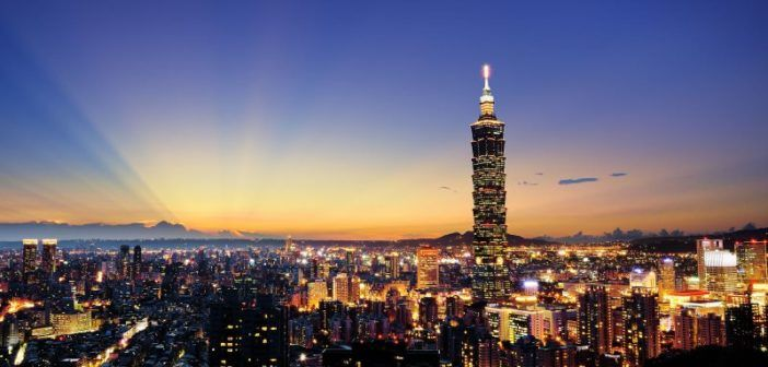 drone colpisce taipei 101