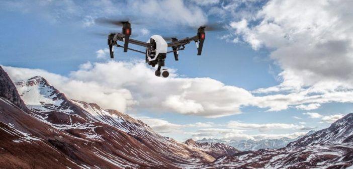 drone per riprese in montagna