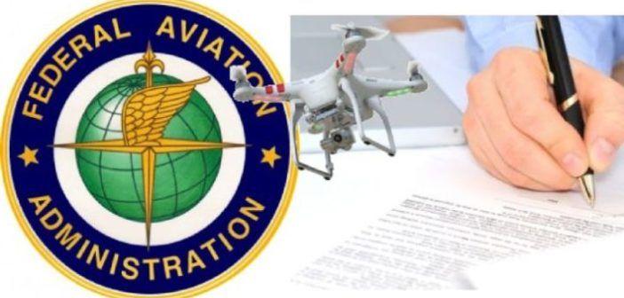 FAA obbliga registrazione droni
