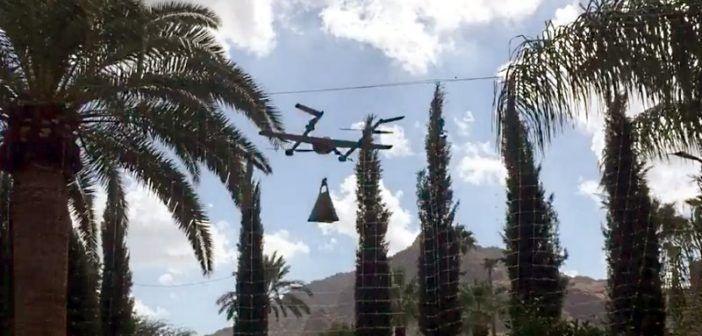 flight test nuovo drone project wing di google