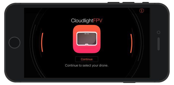 CloudLightFPV occhiali per FPV con droni Phantom e Insipre