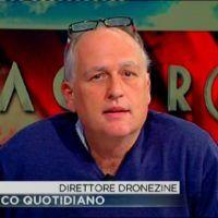 Il direttore di DronEzine, Luca Masali, ad Agorà (20 novbre 2015)