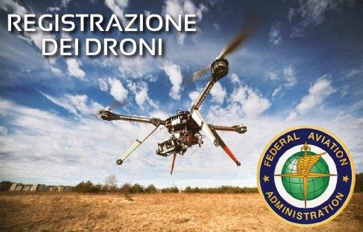 FAA registrazione dei droni