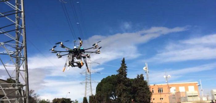droni ENEL per ispezione linee elettriche