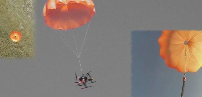 paracadute per droni
