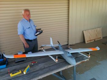 Jack Pittar il drone metà aereo e metà quadricottero
