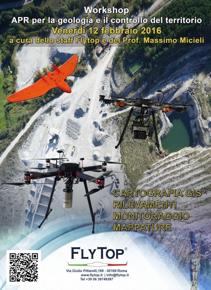 workshop droni e apr per la geologia e controllo territorio