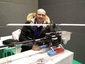 Oscar Chinello con il drone