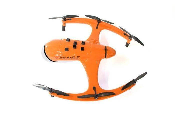 drone seagle, bassa efficenza eliche centrali