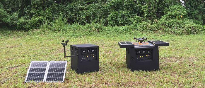 dronebox stazione di ricarica per droni con sensori esterni anche meteo