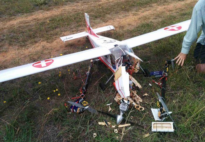 drone quadplane crash