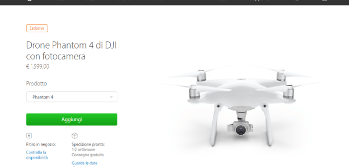 dji phantom 4 esclusiva apple store