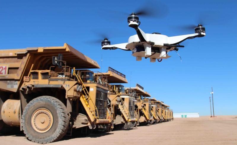 droni nelle miniere