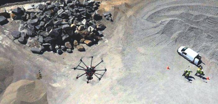 droni per la gestione delle miniere