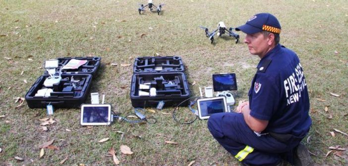droni pompieri in australia