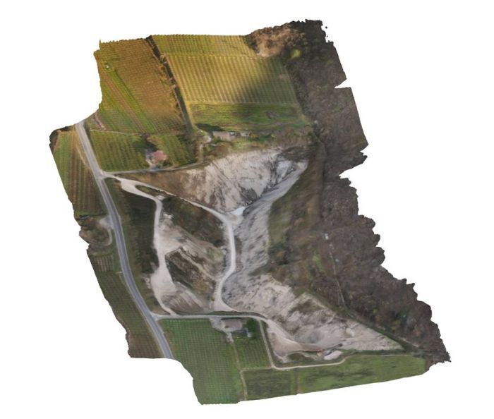 fotogrammetria aerea con droni
