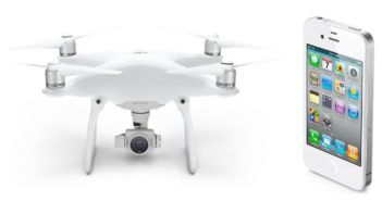 drone phantom 4 e iphone 4