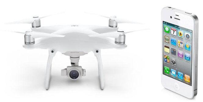 drone phantom 4 e iphone 4
