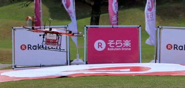 consegne drone giappone campi da golf