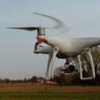 drone dji phantom4 prova in volo