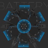 Disposizione delle batterie dell'M600