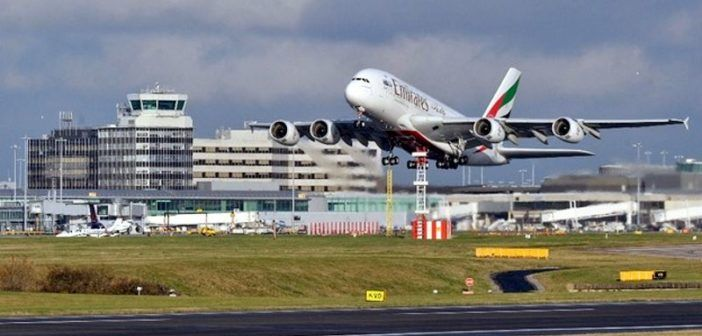 drone near miss manchester aeroporto
