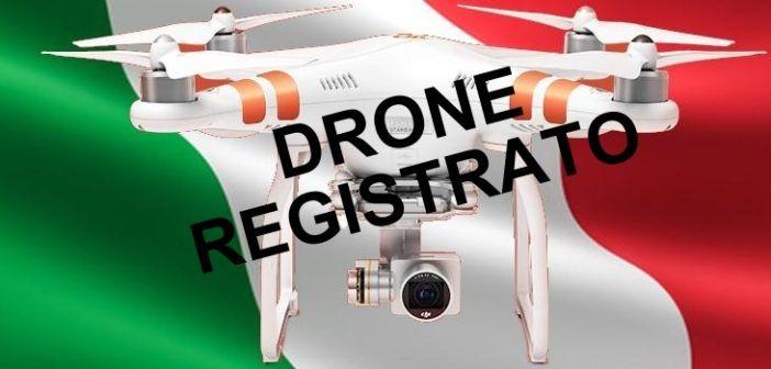 Droni professionali, registrazione obbligatoria dal 1 luglio
