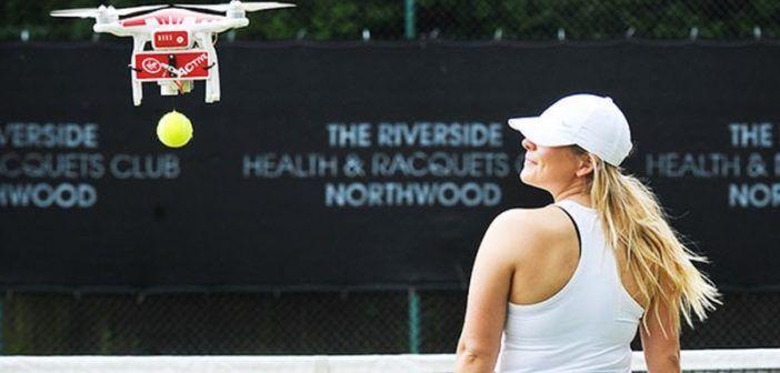 drone per il tennis