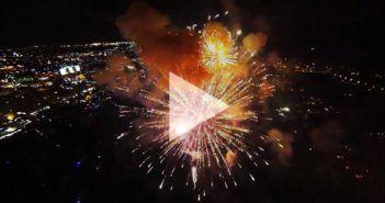 video drone fuochi artificio