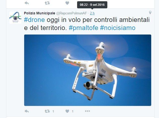 tweet-polizia-ferrarese-uso-drone-controllo-ambiente