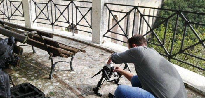 Analisi con drone del Ponte delle Torri di Spleto lesionato dal sisma