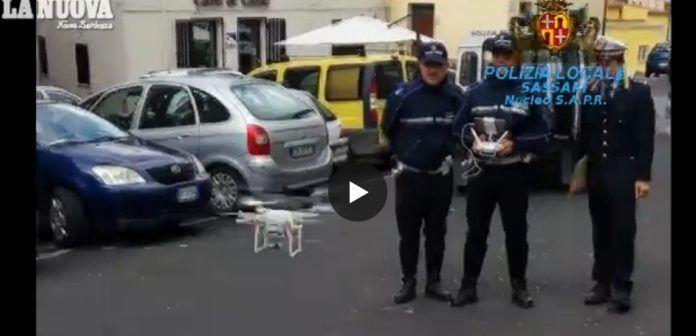 drone-polizia-municipale-sassari-controlla-amianto-sui-tetti