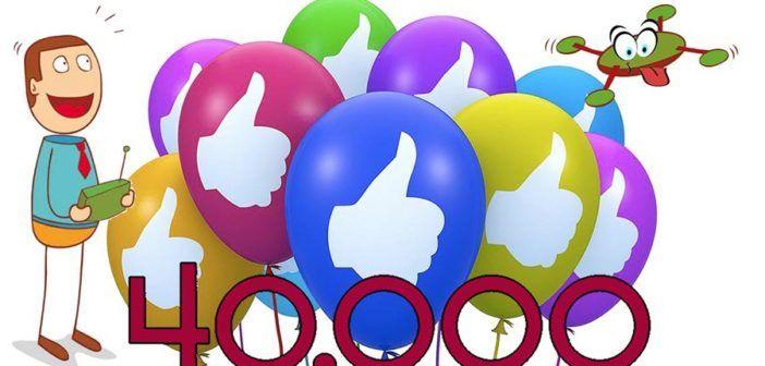 DronEzine raggiunge i 40 mila like su Facebook. Grazie di cuore!