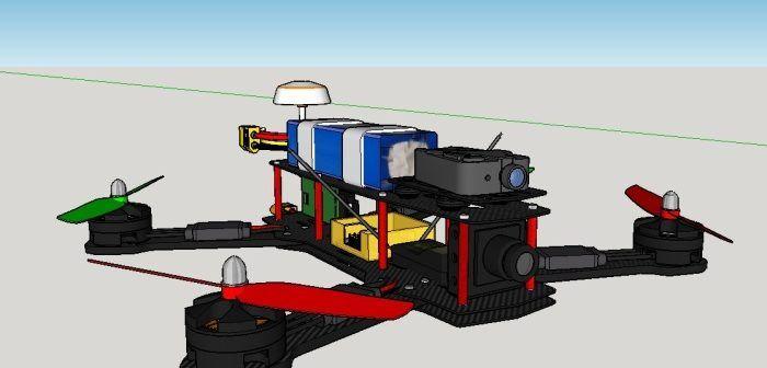drone-disegnato-sketchup