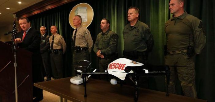 sceriffo los angeles usa droni