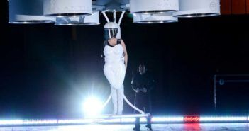 lady-gaga-arrived-at-her-album-release-party-in-a-half-dress-half-drone-that-literally-flies