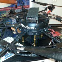 Il drone NT300 sopra al drone esacottero NT6