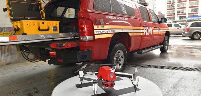 drone vigili del fuoco a new york