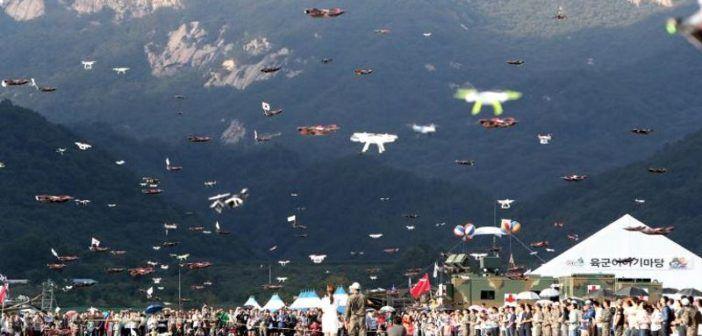 esercito sud corea sciami droni