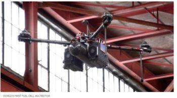 Il primo test in volo del drone a idrogeno