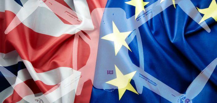 61017623 - brexit concept, uk and european flag together