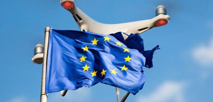 52979827 - old european flag on a blue sky