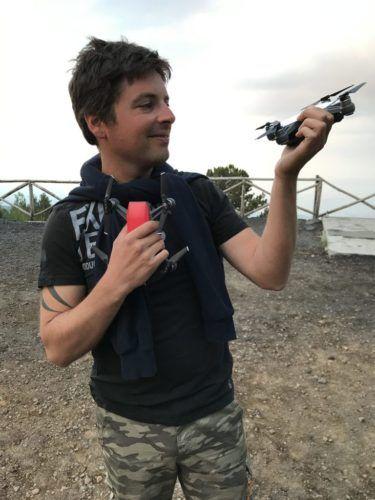 David Mariottini sull'Etna con lo Spark