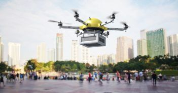 35391724 - 3d image of futuristic delivery drone