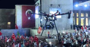 turchia drone colpisce folla durante discorso erdogan