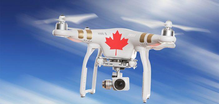 droni con bandiera canadese