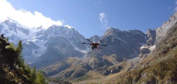 droni per studiare i ghiacciai polimi poli torino