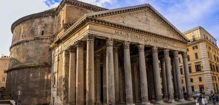 droni su pantheon e vaticano roma