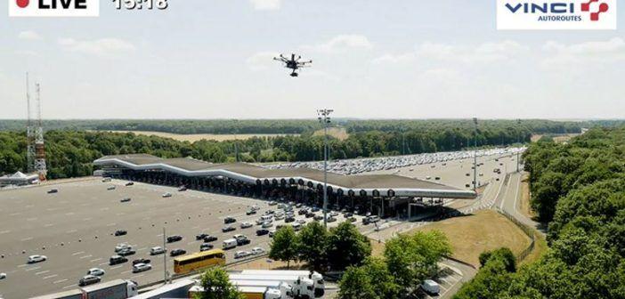 francia droni sorvegliano traffico autostrade